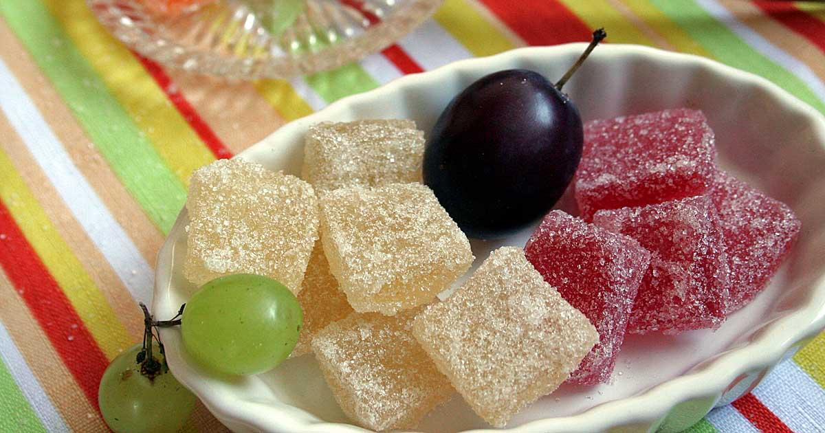 kẹo trái cây không đường