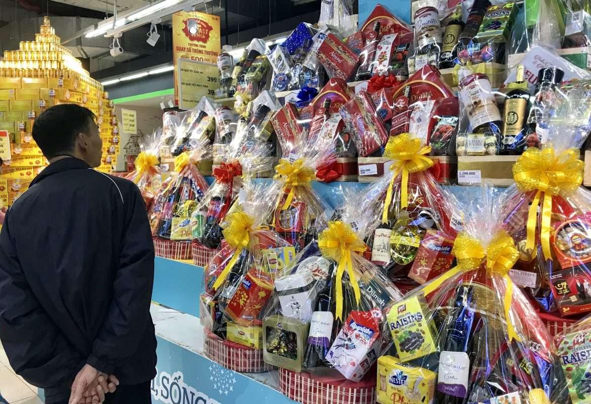 bán giỏ quà tết truyền thống