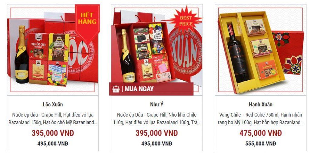 3 hộp quà tết giá rẻ