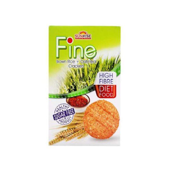 Bánh ăn kiêng yến mạch-gạo lứt Fine 178g (hộp)