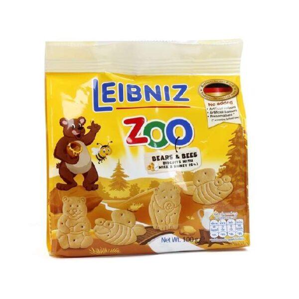 Bánh qui sữa mật ong hình gấu và ong Bahlsen Zoo