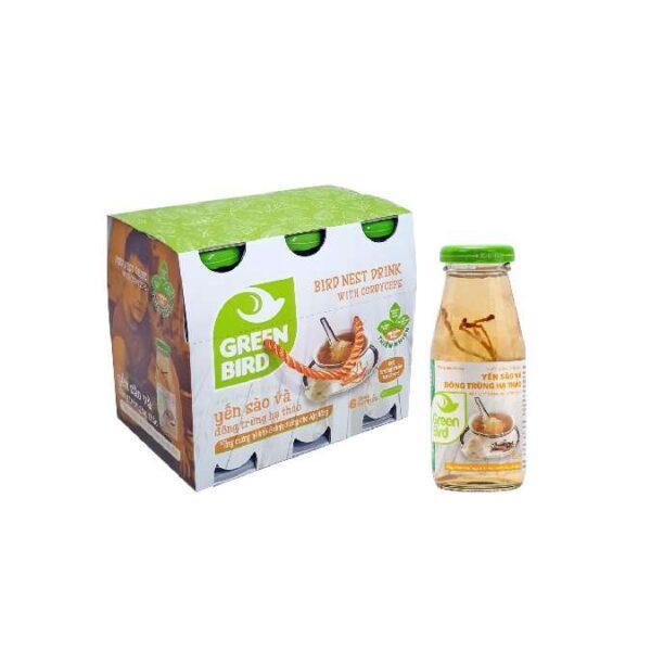 Nước uống bổ dưỡng yến sào và đông trùng hạ thảo Green Bird Việt Nam