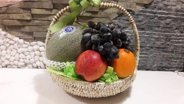 Giỏ hoa quả trái cây tết