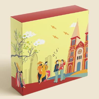 Bộ vỏ hộp quà truyền thống