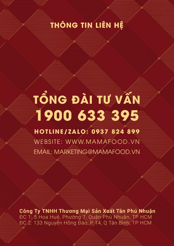 Thông tin liên hệ cửa hàng Mamafood