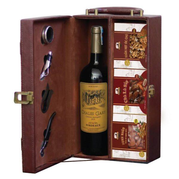 hộp quà tết the wine box